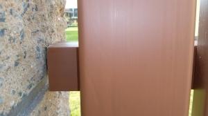 detail upevnění plotových polí